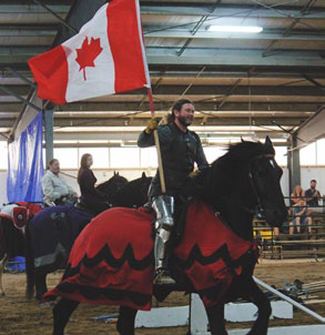 extreme jousting with the knights of valour equestrian ontario